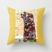 Love & Fulfillment - Gustav Klimt Throw Pillow by BeautifulHomes