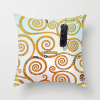 Gustav Klimt Tree of Life  Throw Pillow by BeautifulHomes