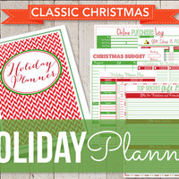 Classic Christmas Set-Holiday Planner Set-Christmas Planner Instant Download-14 Documents