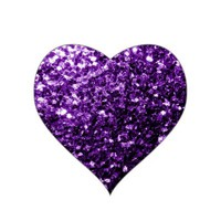 Beautiful Purple glitter sparkles sticker