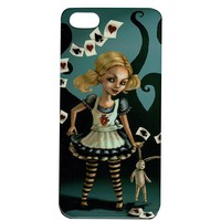 """Miss Wonderland"" iPhone 5 Case by Black Market Art"
