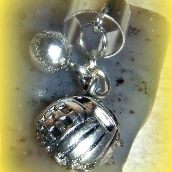 Base Ball with Glove Ear Cuff, Athletic, Preppy, Sports Jewelry, Ready to Ship, Direct Checkout,