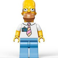LEGO THE SIMPSONS 2014 MINIFIGURE HOMER SIMPSON POWER PLANT SIMPSONS HOUSE 71006