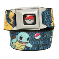 Pokemon Poke Ball Blue Seat Belt Belt