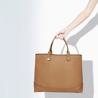 SHOPPER BAG WITH METALLIC APPLIQUÉS