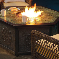 Villa Custom Gas Fire Table