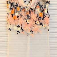Sheer Embroidered Shirt - OASAP.com