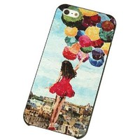 Girl and Colorful Balloons Phone Shell Case for Iphone5/5s