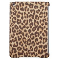 Cute Leopard Print Fabric Apple iPad Air Cover