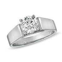 1-1/4 CT. Certified Diamond Solitaire Engagement Ring in 14K White Gold (J/I2) - View All Rings - Zales