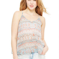 Tribal Tulip Back Tank