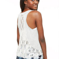 Lace Inset Back Tank