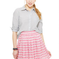 Flamingo Challis Skater Skirt