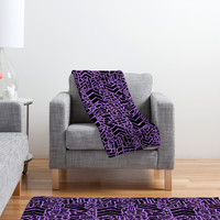 Nick Nelson Microcosm Orchid Fleece Throw Blanket
