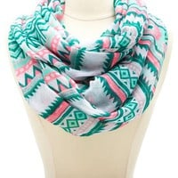 CHEVRON & AZTEC STRIPED INFINITY SCARF