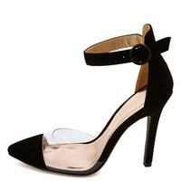 Lucite Single Sole Cap-Toe Pumps