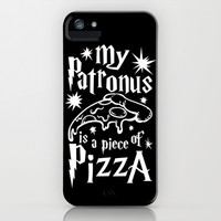 My Patronus is Pizza iPhone & iPod Case by LookHUMAN