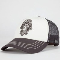 Billabong Hamsa Hand Womens Trucker Hat Charcoal One Size For Women 22781411001