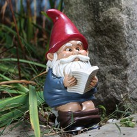 Garden Gnome on the Throne - Hilarious Novelty Garden Gnome