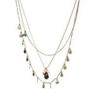 Orelia Exclusive For ASOS Multirow Coin & Bead Necklace