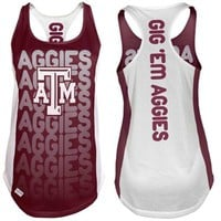 Majestic Texas A&M Aggies Ladies Whatever It Takes Reversible Tank - Maroon/White