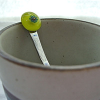Groovy Green Tea Spoon by Design4Soul