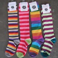 Striped Knee Socks - The Herbivore Clothing Co. Store