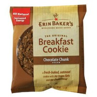 Erin Baker's Breakfast Cookie Chocolate Chunk, Vegan, 3-Ounce Individually Wrapped Cookies (Pack of 12): Amazon.com: Grocery & Gourmet Food