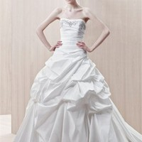 Strapless ball gown simple satin Ivory 2012 spring Enzoani Wedding Dresses EWD060 -Shop offer 2012 wedding dresses,prom dresses,party dresses for girls on sale. #Category#
