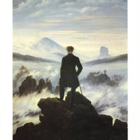 Caspar Friedrich (Wanderer Above the Sea of Fog) Art Poster Print