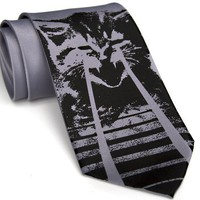 Laser Kitten  silkscreen necktie OMG cats Regular by toybreaker