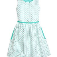 Girls' Sleeveless Eyelet Dress