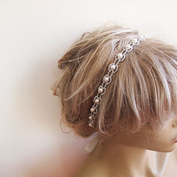 Wedding Wedding Rhinestone and Pearl headband, Bridal Headband, Bridal Hair Accessory, Wedding hair Accessory