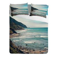Catherine McDonald California Pacific Coast Highway Sheet Set× 1 Turquoise, Aqua