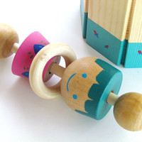Newborn baby gift on sale, Baby shower gift, Round Xylophone and a Rattle, Gift for Baby boy
