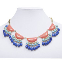 Sparkling Multi-Color Bead Necklace | Wet Seal