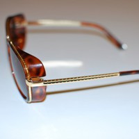 Steampunk Caveman Aviator Sun Glasses in Leopard Print