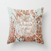 In Heaven Throw Pillow by RDelean