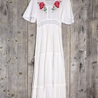 Vintage Rose Crochet Dress - Urban Outfitters
