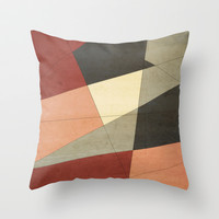 Vintage Patchwork Throw Pillow by DuckyB (Brandi)
