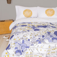 Snoozin' in the City Duvet Cover in Twin/Twin XL | Mod Retro Vintage Decor Accessories | ModCloth.com