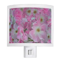 Pink Knockout Roses Painting Night Light