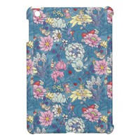 Elegant Garden Party Floral Pattern iPad Mini Case