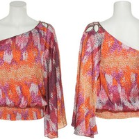 RAMPAGE Charmeuse Top W/ Beaded Shoulder