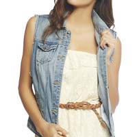 Deep Arm Hole Vest | Wet Seal