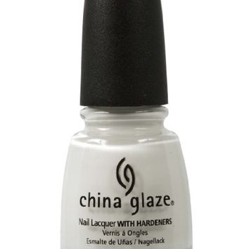 China Glaze Nail Polish, White On White, 0.5 Ounce