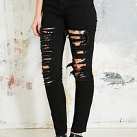 Light Before Dark Extreme Destroy Jeans in Black - Urban Outfitters