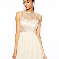 Little Mistress Skater Dress with Vintage Lace Bodice