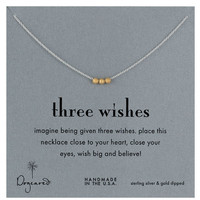 Women's Dogeared 'Reminder' Boxed Pendant Necklace - Three Wishes