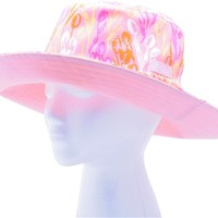 Wo's Reversible Bucket Hat Tulip Pink